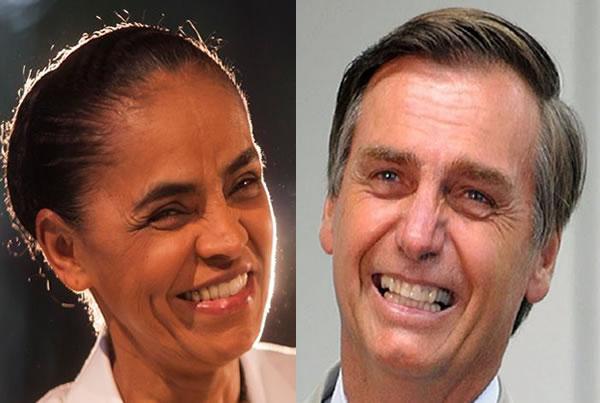 Resultado de imagem para Bolsonar o emarina silva